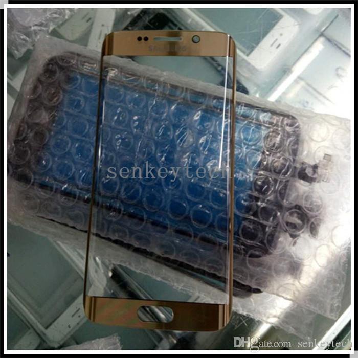 100% di ricambio originale esterno di vetro per lente in vetro anteriore esterno bordo Samsung Galaxy S6 schermo G925 SM-G925V SM-g925P LCD Touch