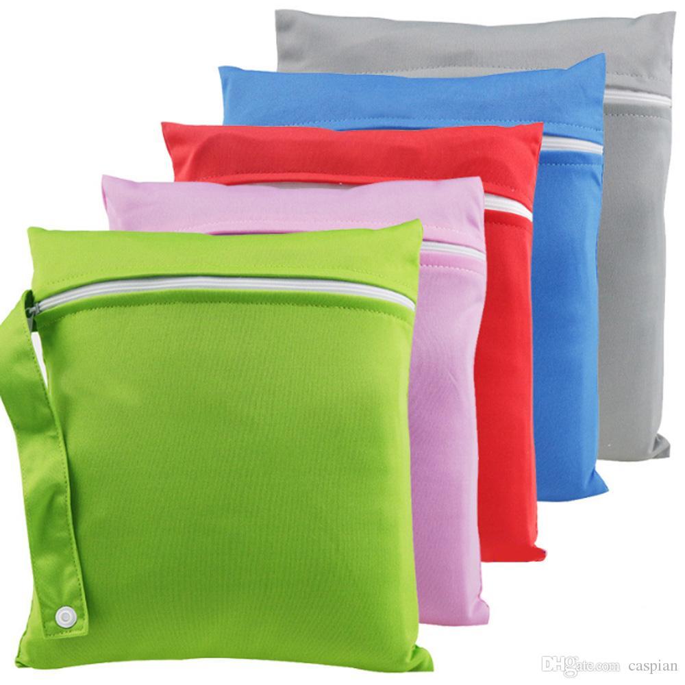 الصلبة اللون حفاضات الطفل للماء حقيبة منظم 30 * 40 سم متعددة الوظائف شنقا الوليد الرضع قابل للغسل حقيبة تخزين حفاضات