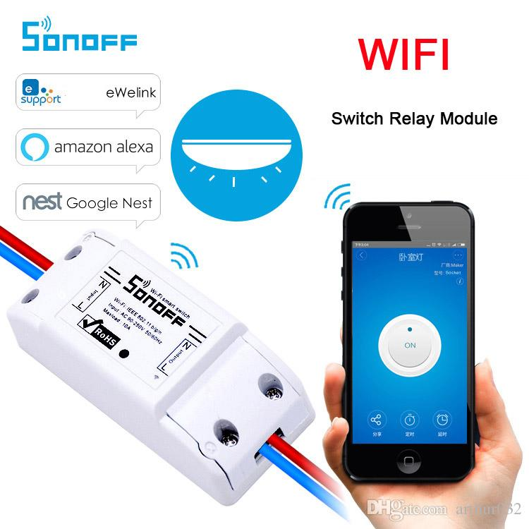 Sonoff Wi-Fi Smart Wireless Switch Пульт Дистанционного Управления Модуль Реле Универсальности DIY Умный Дом Domotica Устройство 10A 220 В AC 90-250 В