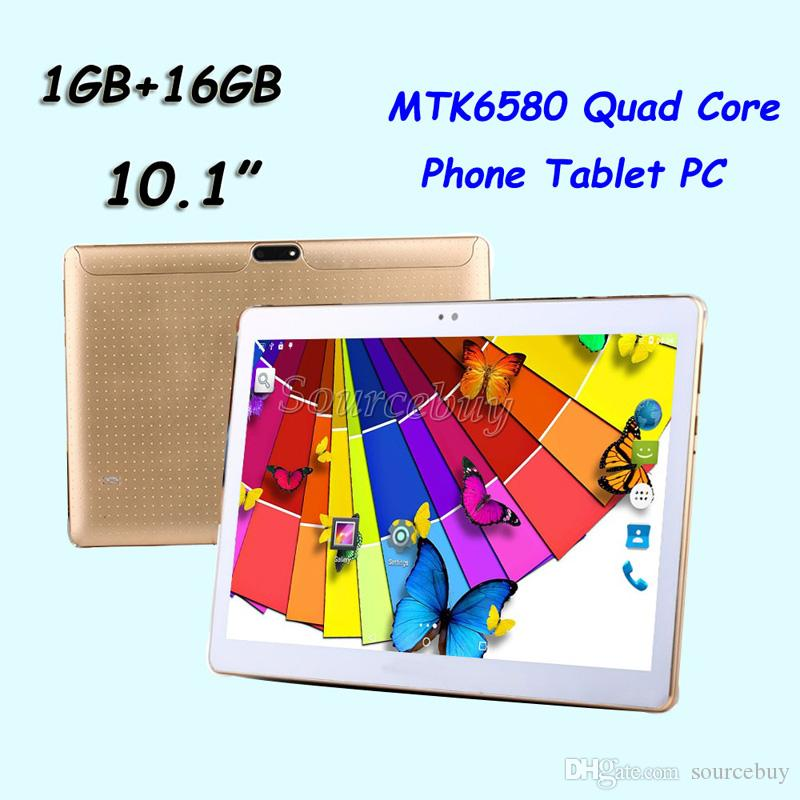 Telefono Tablet PC MTK6580 Quad Core 10.1 pollici 3G Dual SIM 16GB Android 5.1 1280 * 800 MTK8752 Custodia in pelle Octa Core 32GB
