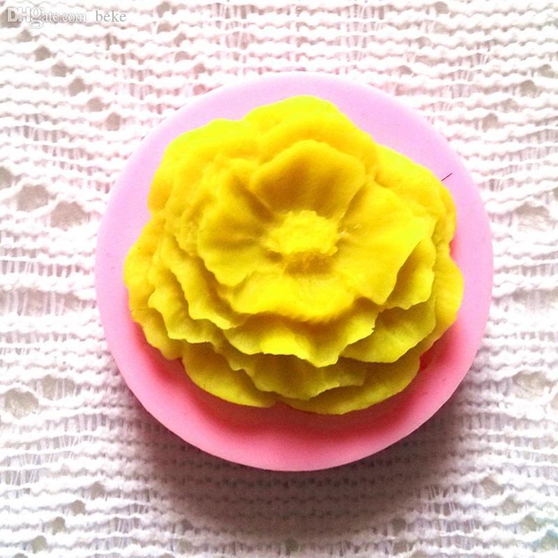 La muffa del fiore del sapone del fondente del fiore della Rosa del silicone 3D all'ingrosso-all'ingrosso che decora le muffe del mestiere del cioccolato libera il trasporto