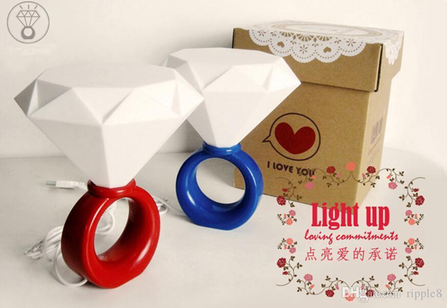 36 шт. Сумка Светодиодные кольца светлые романтические пары Ночной свет День святого Валентина подарок Идеи алмазные огни, USB \ Лампа с адаптером питания