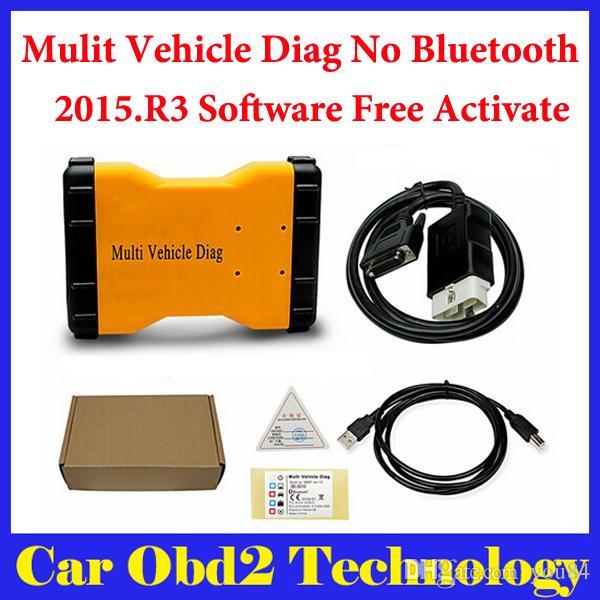 2015.R3 Mulit Vehicle Diag MVD No Bluetooth Same Function As TCS CDP Pro For CARS/TRUCKS 3 IN1 + Carton box Free Shipping