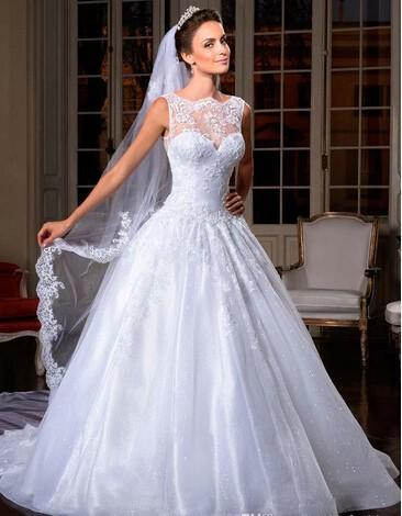 Vintage Full Lace de vestidos de casamento da Linha 2020 Beaded Applique Tribunal Trem Backless casamento Brial Vestidos