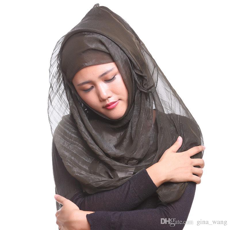 DHL GRATUIT soie, comme bandeau islam mode foulard musulman hijab à  long turban imprimé châle