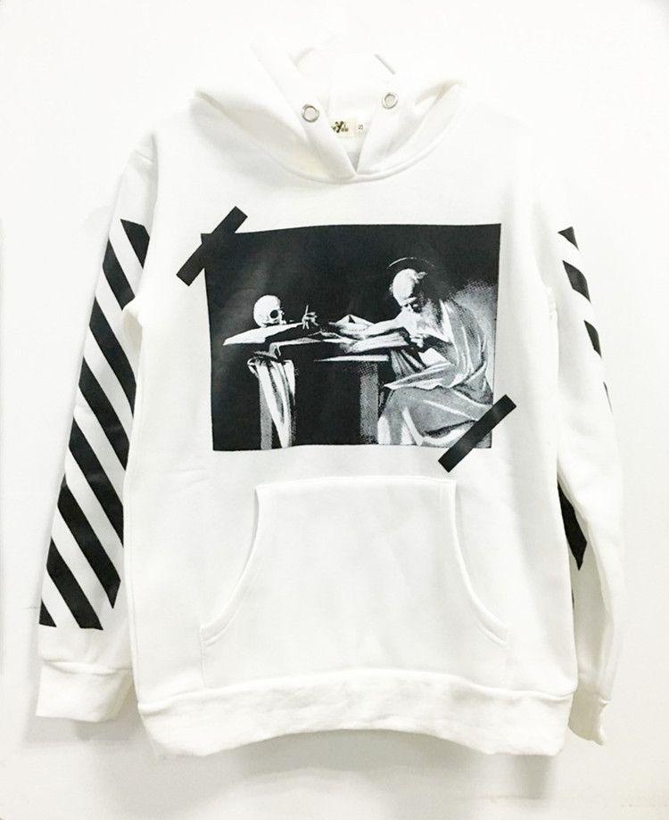Hot Off White ow sun hoodie Virgil Abloh Pyrex Vision street sweatshirt 2019
