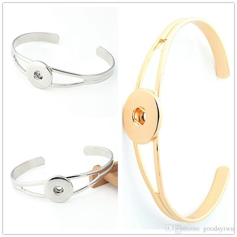 NOOSA Hot Sale Snap Bracelet&Bangles Charms Bangles Alloy Bracelet 18mm Snap Button Jewelry DIY Jewelry Gold Silver Can be mixed SZ02