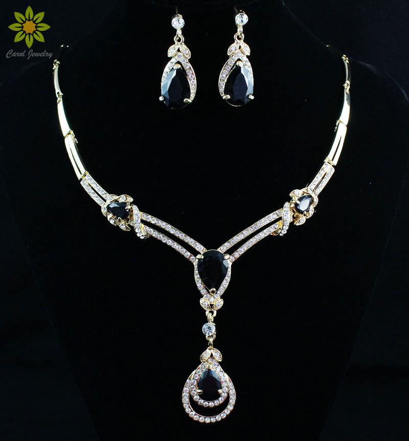 Fashion African Zircon Beads Wedding Bridal Jewelry Set New Charms 18K Gold Plated Women Party Costume Jewelry Sets