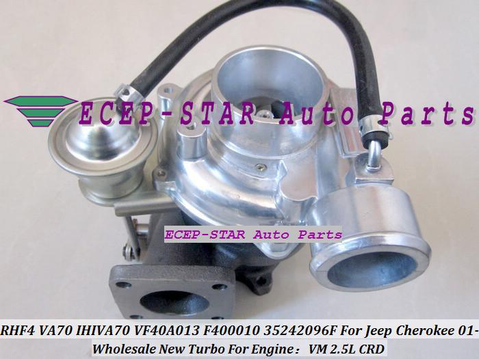 RHF4 VA70 VF40A013 F400010 35242096F IHIVA70 Turbo Turbine Turbocharger For Jeep Cherokee 2001- Engine VM 2.5L CRD Oil Cooled