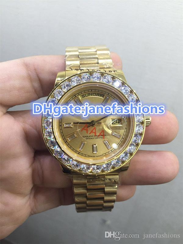 Montres homme en or 18 carats bracelet en or bracelet en acier inoxydable chronographe mouvement haut de gamme montres prix promotionnel