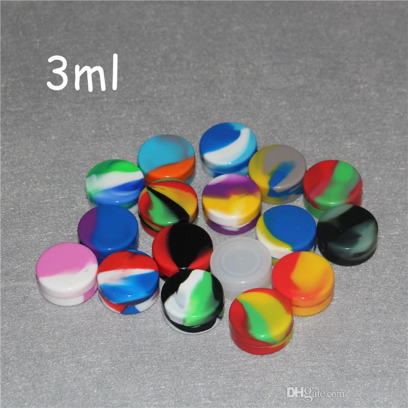 Contenitori in silicone all'ingrosso per cere alimentari Vasi silicone di grado 1,5 ml 3ml 5ml 7ml 6 ml casse del silicone 10ml 22ml IN E Cigarettes