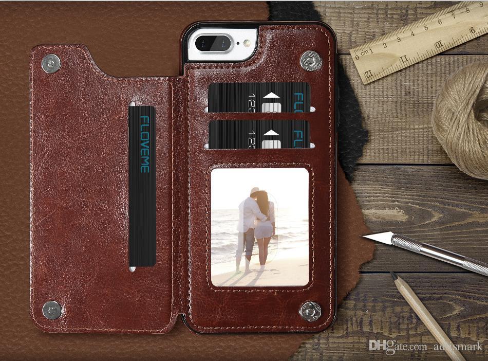 Cassa Da Portafoglio Di Lusso IPhone 6 6S Plus X Staffa Tipo Di Cuoio Porta Carte Kackstand Cover Posteriore IPhone 7 7 Plus Da Adtismark, 4,1 € | ...