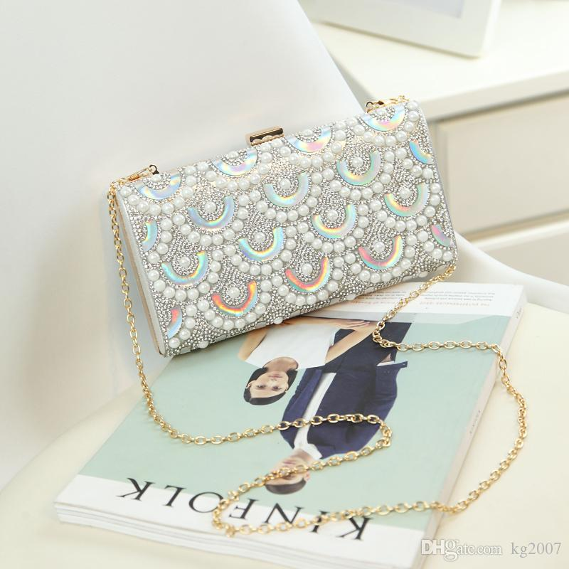 High quality fashion bling pearl party bag messenger women evening Bag Clutches Purse Fashion new styling