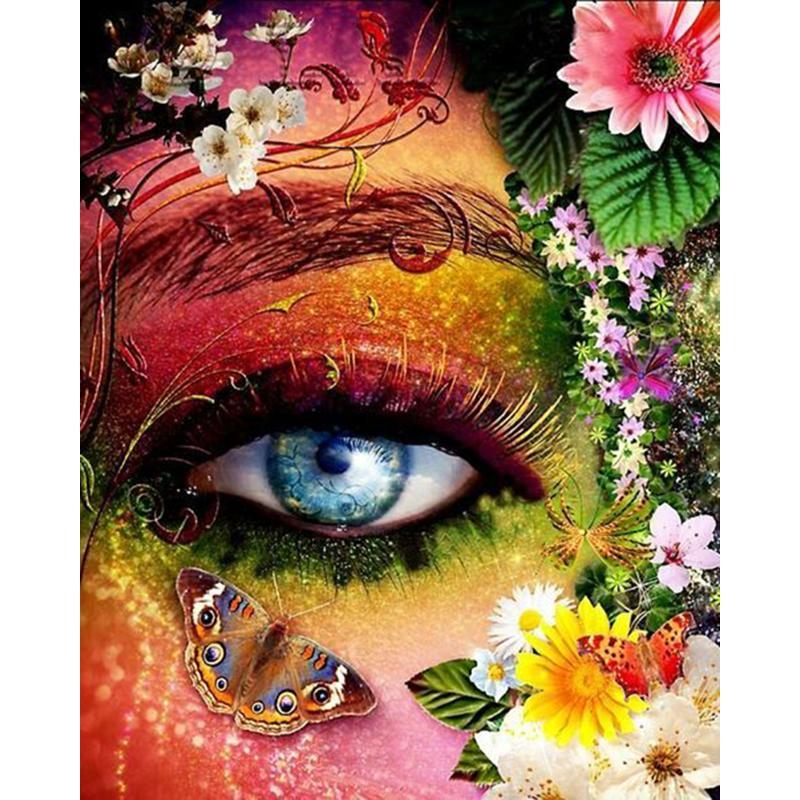 2019 Flowers Eyes DIY Full Drill Diamond Painting Home Wall Decor 5D  Diamond Mosaic Cross Stitch Embroidery Gifts Handmade From Meetsunshine,  $6.52