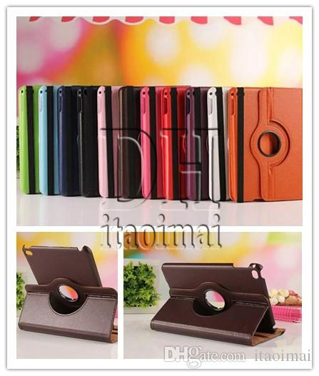 Degree Rotation Smart Stand PU Leather Tablet Case Cover For Apple ipad Pro Samsung Galaxy tab S2 E A T330 T350 T560 T377