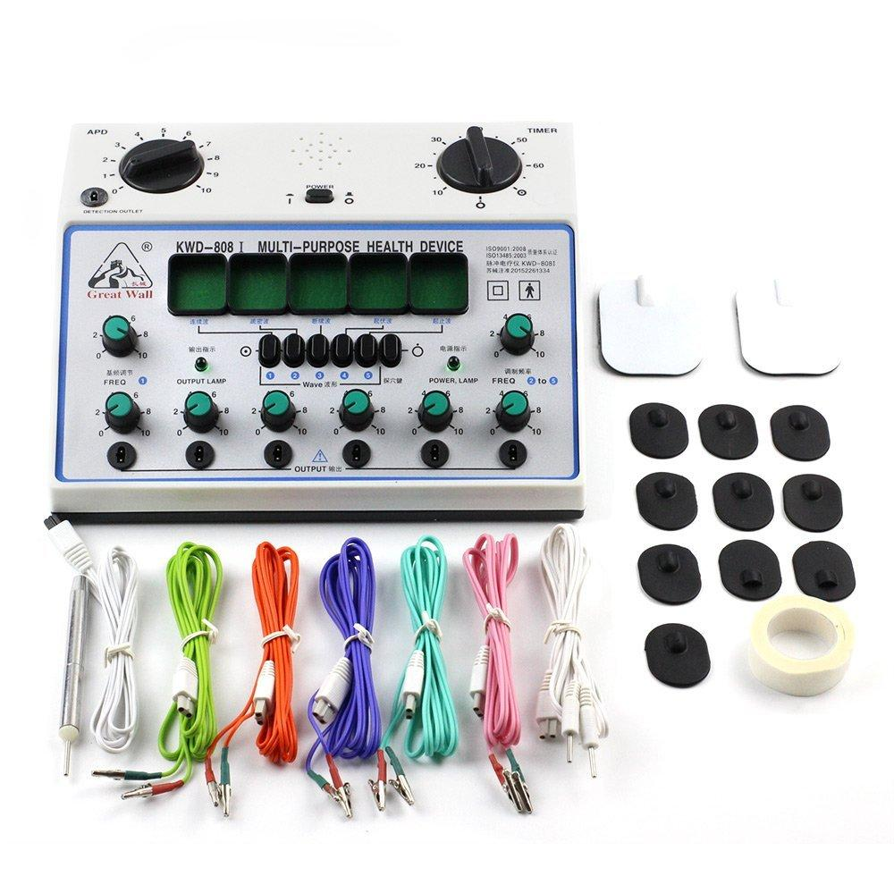 Kwd808i Electric Acupuncture Stimulator Machine KWD808 I 6 Output Patch  Massager Care 110V 240V EU US UK AU Plug Pain Relief Products Body  Vibrations