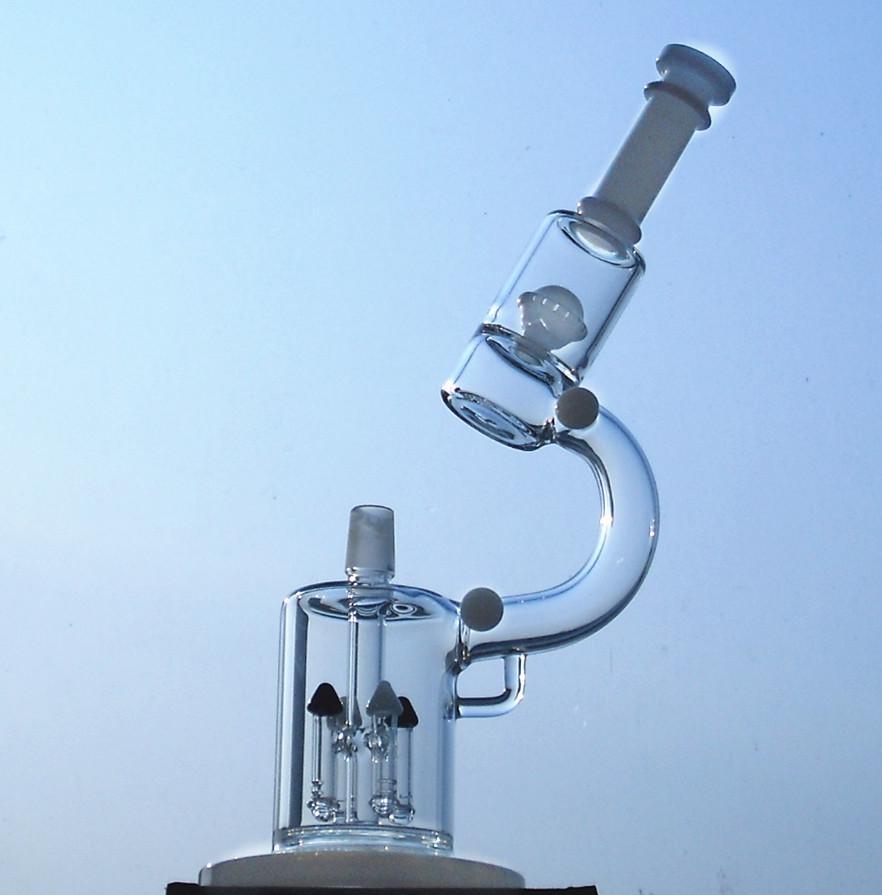 Bonne qualité Tuyaux d'eau Bong microscope fusée verre tuyau d'eau Narguilé verre bangs plates-formes de forage en verre