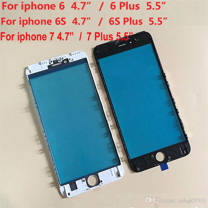 Wholesale 3 in 1 Cold Press Front Glass Frame Pre Applied OCA Polarizer Assembly For Iphone 6 6s 6plus 6splus 7 7Plus