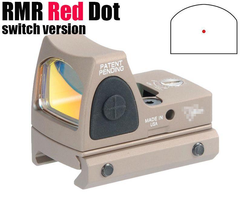 Taktische RMR Red Dot Reflexvisier Einstellbare (LED) 3,25 MOA Red Dot mit Seitentaste Steuerung Dark Earth