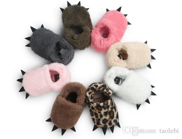 12 çift / grup Toptan canavar tasarım bebek ayakkabıları Moda karikatür bebek ilk yürüyüşe Kış prewalker Sıcak ve Sevimli bebek ayakkabısı mix renkler