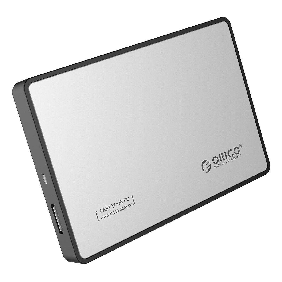 ORICO 2588US3 USB 3.0 محرك الأقراص الصلبة الخارجي SATA HDD / SSD مربع 2.5 بوصة ضميمة للقرص الصلب 7MM + 9MM