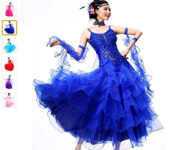 2018 Faldas de baile de salón 10 colores Vestido De Formatura S-XXXL Beyonce Leotard Escapulario Waltz Dress Envío gratis