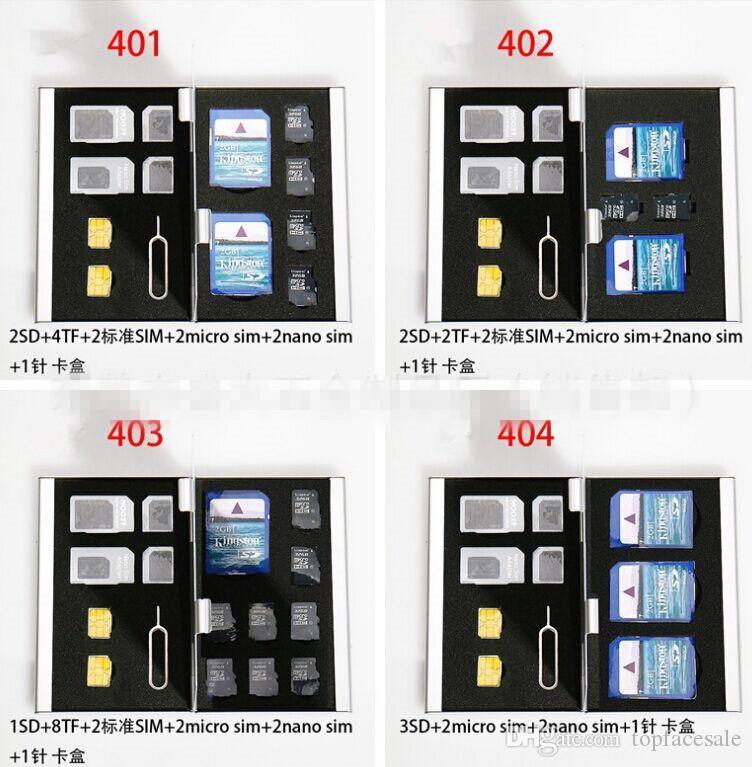 Thick SD TF SIM Card Combination Box Wholesale High Quality Camera Memory Card Box Digital Storage Box With a needle Many Colors