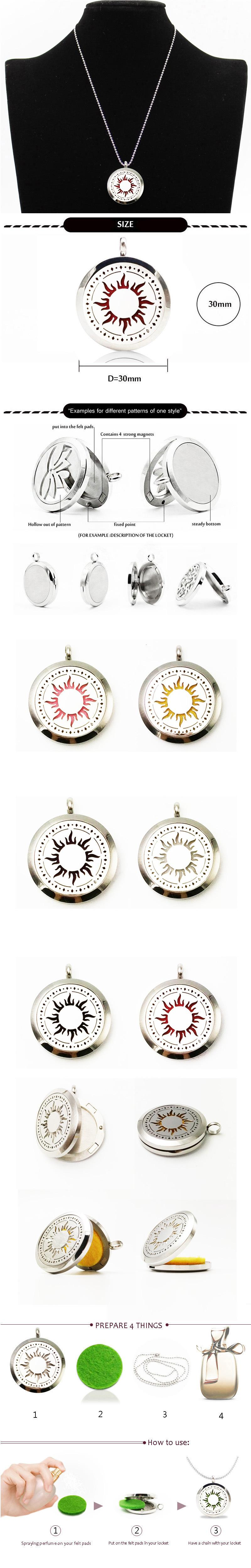 Wholesale New Arrival Hot Sale Aromatherapy Jewelry Necklace Vintage