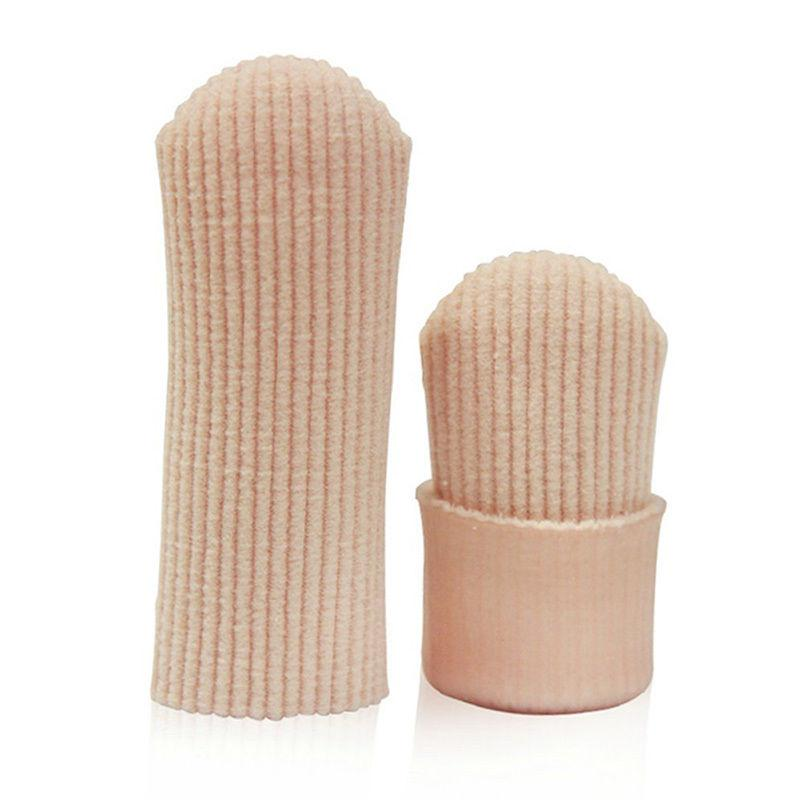 New Fabric Ribbed Knit Gel Toe Finger Cap Cover Sleeves Tube Protector 1 piece #T20