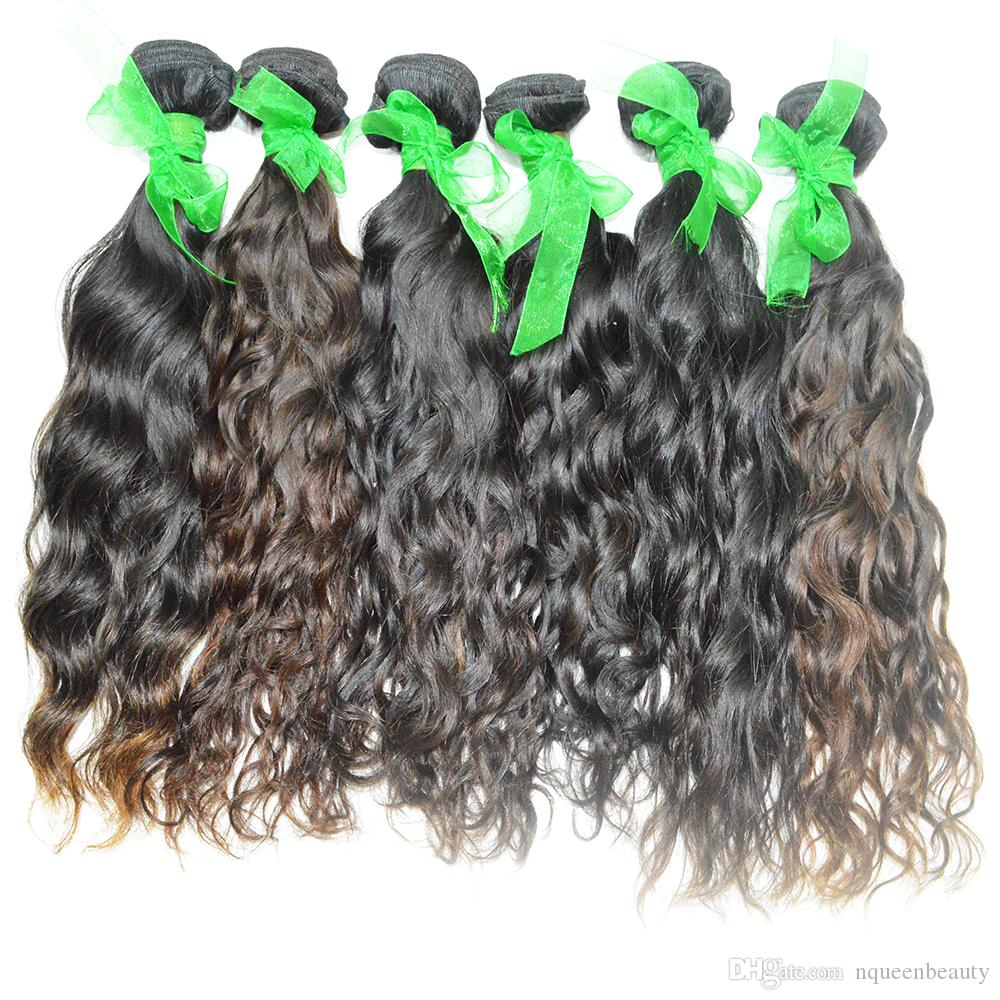 Single Donor wholesale Hair Unprocessed Pure Human Hair 10-28 Water Wave Peruvian Material Full Cuticle 3pcs/lot Tangle free