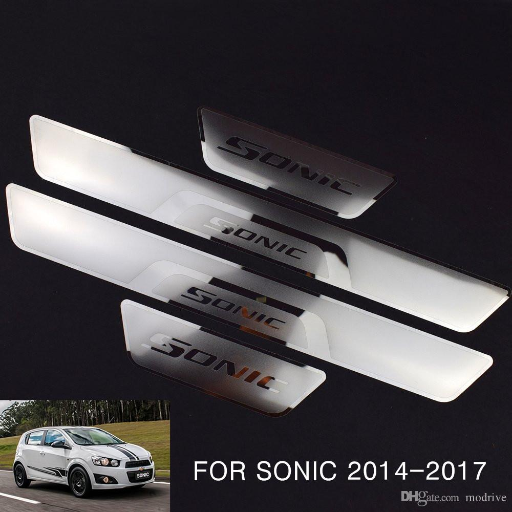 Car Stainless Steel Door Sill Scuff Plate Guard Trim Fit For Mazda 6 2014-2017