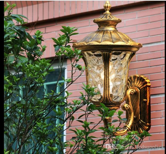 Doğu Avrupa pastoral su geçirmez açık balkon koridor koridor duvar lambası açık teras, alüminyum dış cephe kaplaması duvar lambası LED