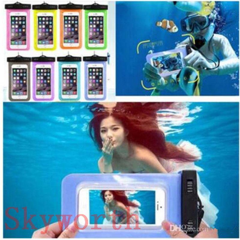 삼성 갤럭시 s7 s6에 대 한 보편적 인 물 증거 케이스 Iphone X 8 7 플러스 휴대 전화 건조 가방 방수 전화 가방