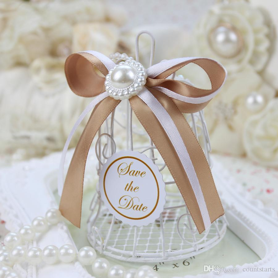 2016 Lowest Price Cage Shaped Wedding Candy Boxes Gift Bags Wedding ...