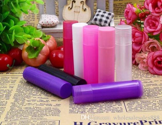 Fabrika Fiyat 5g Saydam DIY Ruj Tüp Dudak Balsamı Boş Tüpler Konteynerler Paketi (8 Renkler) DHL Tarafından 1000 Adet / grup Ücretsiz Kargo