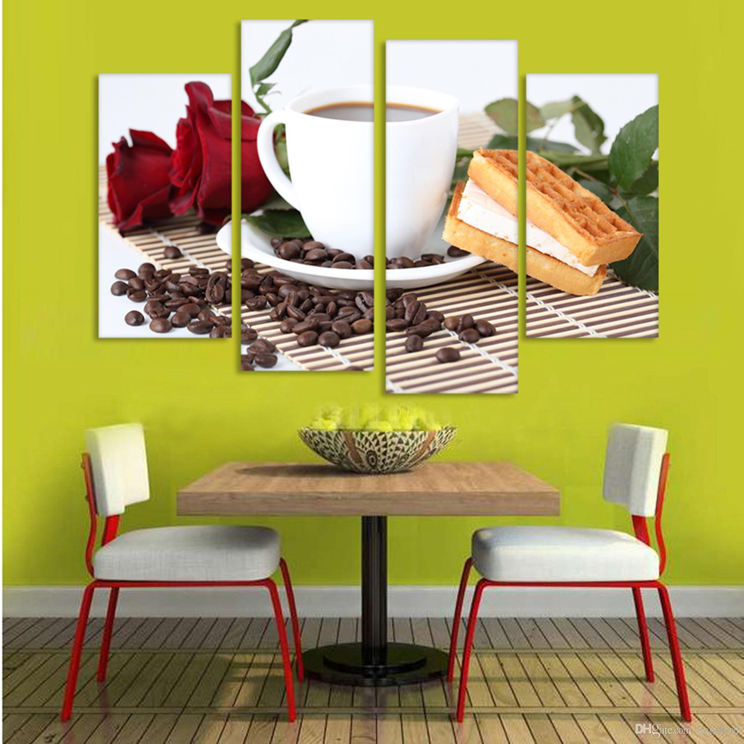 2018 Canvas Print Painting Artwork, Cafe Styles Coffee Beans Cff025 ...