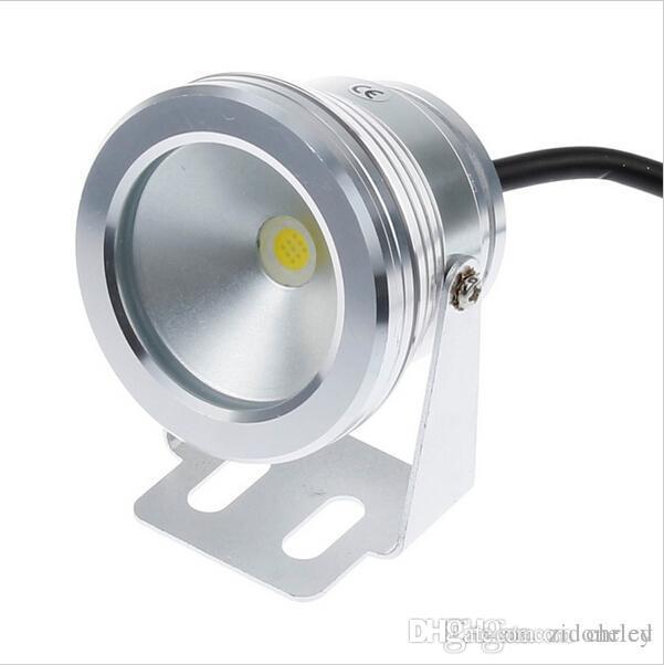 Led luces subacuáticas piscina 10W Luces DC12V frío / caliente blanco del portalámparas IP68 a prueba de agua Foutain piscina iluminación de la lámpara