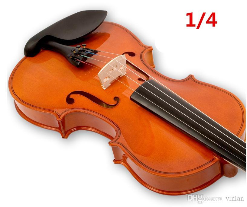 V102 Violino di abete di alta qualità 1/4 violino artigianale violino Accessori per strumenti musicali Spedizione gratuita