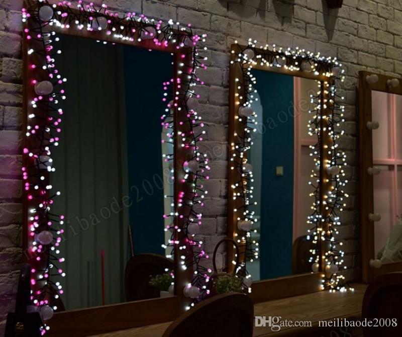2017 neue 3 Mt LED Lichterketten 400 LEDs Wasserdichte Lichterketten mit 8 Beleuchtungsarten für Schlafzimmer Garten Party Terrasse Bistro Market Cafe MYY