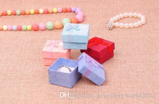 عالية الجودة bowknot المجوهرات مربع عصابة مربع هدية مربع 100 قطعة / الوحدة