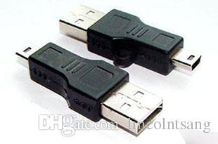 Оптовая 200 шт. / лот черный USB A В B 5pin USB кабель-адаптер для MP3 MP4 телефон DHL FEDEX Бесплатная доставка