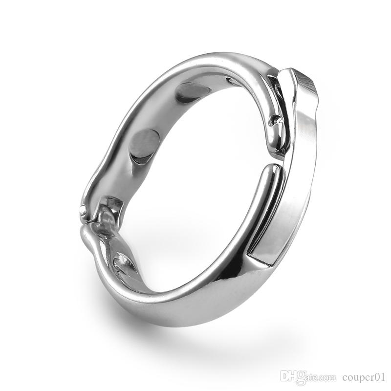 Magnetic Sheath Compound Cock Ring, Male Foreskin Resistance Circumcision Glans Penis Ring Chastity Sex Toys for Men
