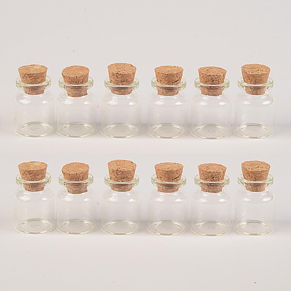 22x30x12.5 мм 5 мл прозрачный мини стеклянные бутылки с пробкой пустые маленькие стеклянные банки маленькие бутылки желая подвески 100 шт.