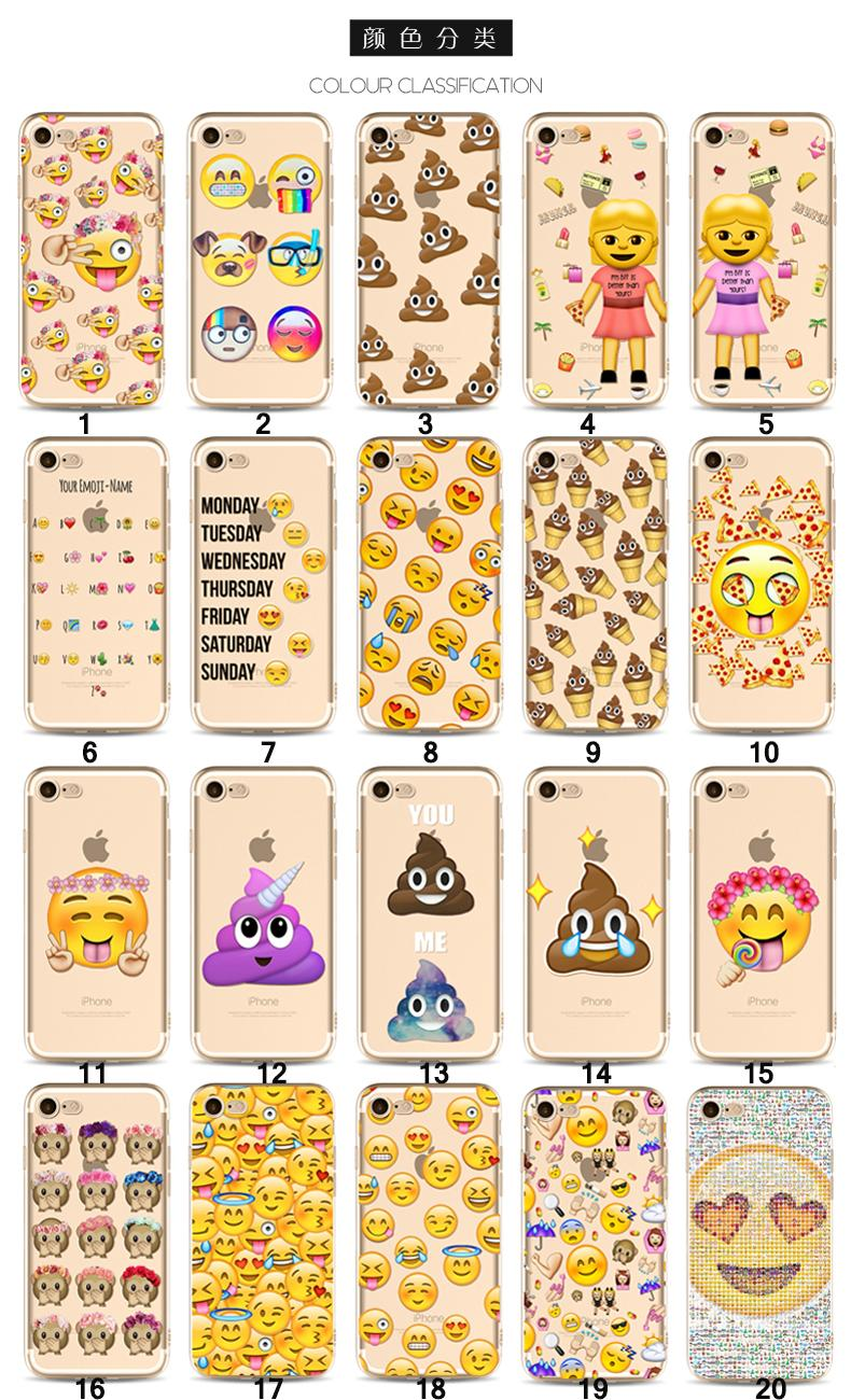 2017 New Cute Emoji Case For Iphone X 8 7 6 6s Plus 5 5s 5c SE TPU  Christmas For Samung Note 8 S8 Plus Anti Drop Cell Phone Cases Protector  Clear Cell