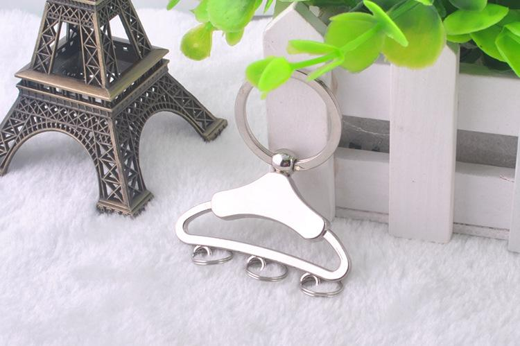 FREE shipping by FEDEX 100pcs/lot 2014 Wholesale Zinc Alloy Clothes Stand Keyring Metal Clothes Hanger Pendant Keychain