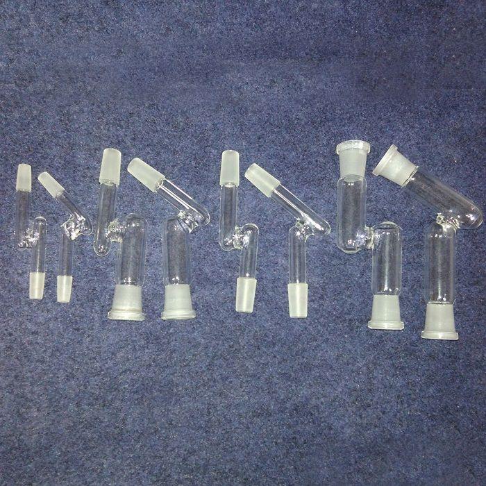 10 стилей стеклянный адаптер бонг 90 градусов 45 для выбора мужской женский 14.4 мм 18.8 мм стеклянная фабрика OEM ODM добро пожаловать