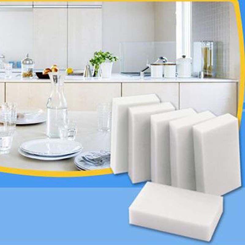 500 قطعة / الوحدة الأبيض ماجيك الميلامين الإسفنج تنظيف ممحاة الإسفنج متعدد الوظائف دون التعبئة حقيبة أدوات التنظيف المنزلية