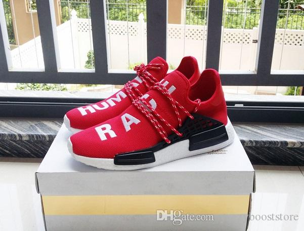 promo code aa769 06a1d New AAA Top Quality NMD HUMAN RACE Running Shoes Sports Mesh Breather  Summer Pharrell Williams X NMD Red/Blue/Yellow 36 44 Discount Running Shoes  ...