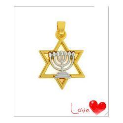 20-31-mm-Jewish-alloy-rhodium-faith-Menorah-and-gold-David-star-charm-20pcs