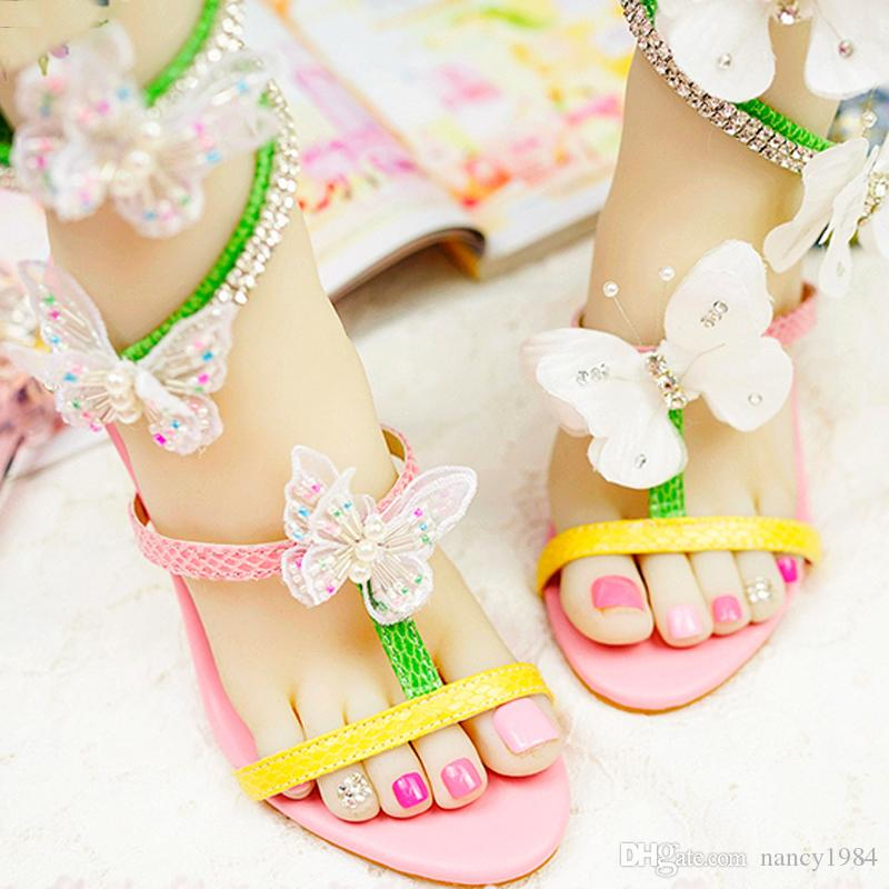 2020 donne Gladiator Sandals farfalla colorata festa nuziale di alto tacco del sandalo speciale nuziale design scarpe fatte a mano Prom Pompe